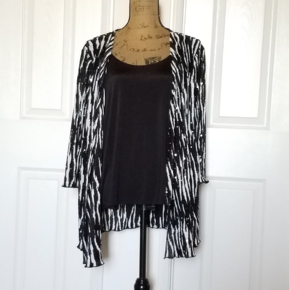 d478b0fa87 Brittany Black Woman Tops Tank Top Attached To Dressy